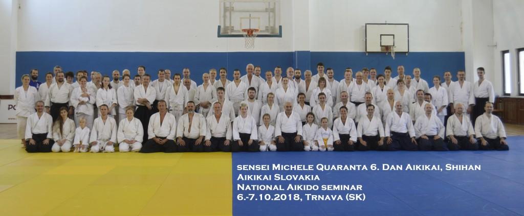 National Aikido seminar - Aikikai Slovakia - sensei Michele Quaranta 6. Dan Aikikai, Shihan/ 6.-7.10.2018, Trnava (SK)