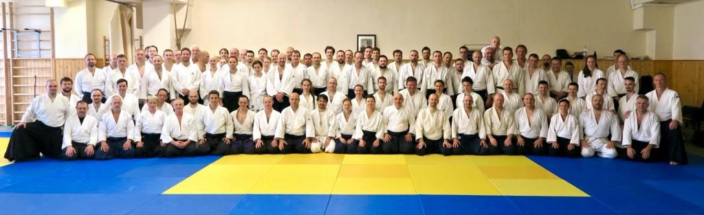 Yudansha/ Shidoshakai of Slovak Aikido Association - Aikikai Slovakia/ sensei Michele Quaranta 6. Dan Aikikai, Shihan/ 19.-20.5.2018/ Trnava - Slovakia