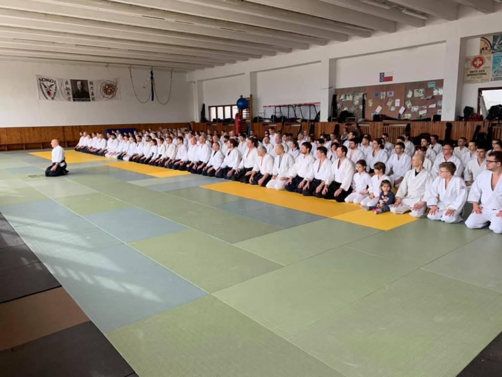 Tréning Michele Quaranta 7.Dan Aikikai - National aikido seminar of Slovak Aikido Association/ Aikikai Slovakia, 16.-17.3.2019, Bratislava (SK)